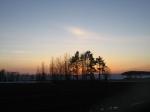 Sun sets on Vimpeli's lake.