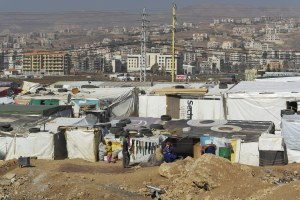 Zahle Camp of Syrian Refugees