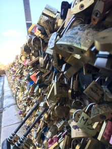 The locks of Love can be found everywhere in the city of love.